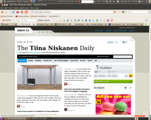 The Tiina Niskanen Daily on Paper.li 31.1.2011