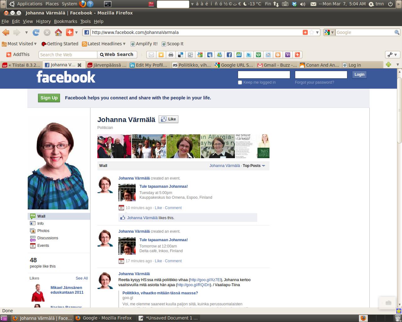 Fb Home Page Design