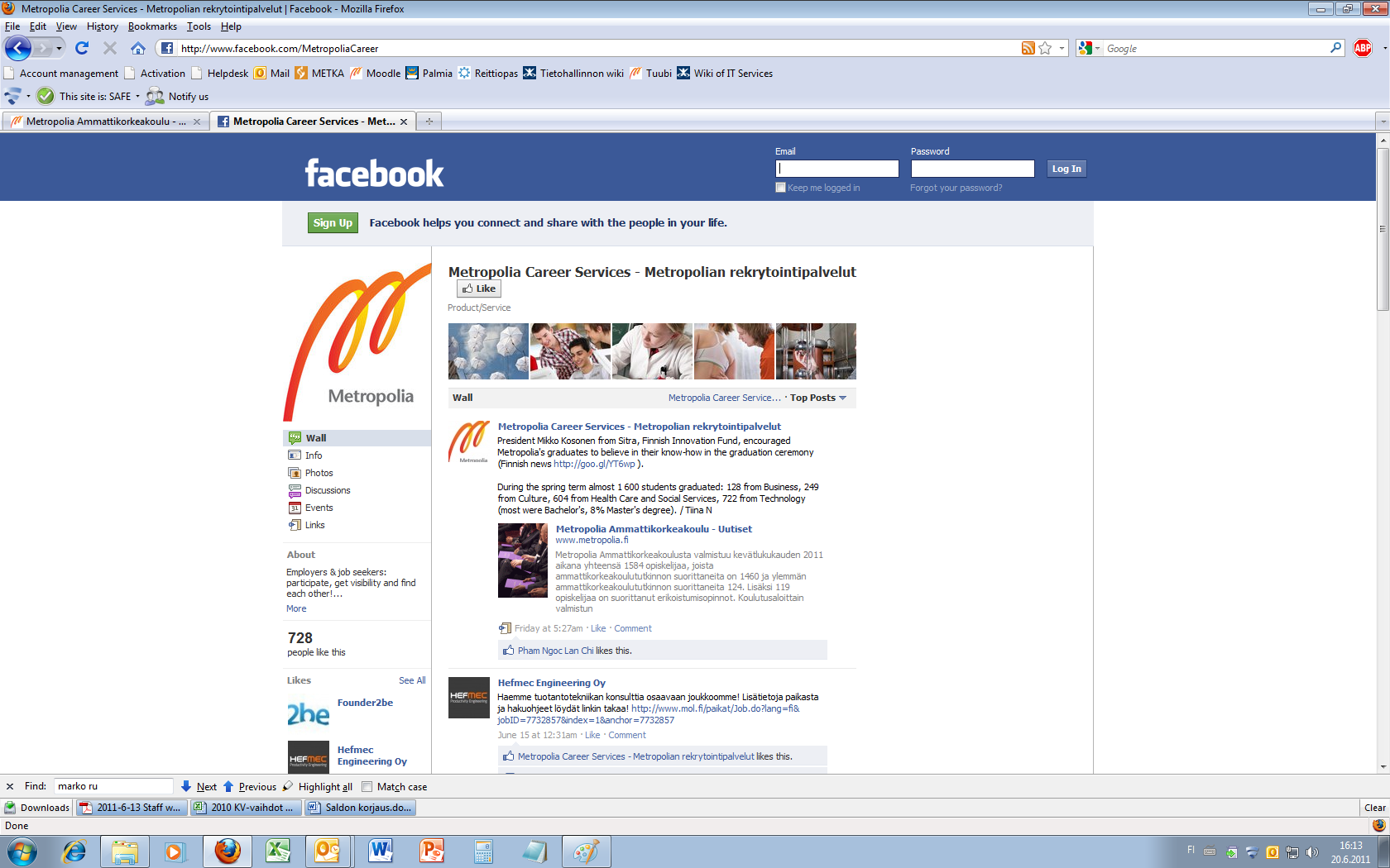 how to add job to facebook
