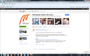 2011-11-8 GooglePlus, Pages, Metropolia Career Services