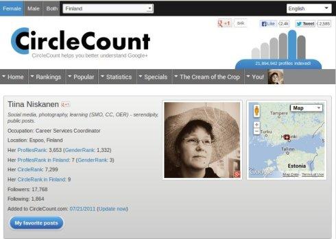 2013-06-30 CircleCount, Tiina Niskanen